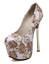 Loafers & Slip-Ons-Hochzeit Kleid Party & Festivität-Kunstleder-Stöckelabsatz-Komfort Neuheit Gladiator Pumps Modische Stiefel-Schwarz