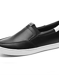 Women's Shoes Leatherette Fall Comfort Loafers & Slip-Ons Office & Career / Dress Flat Heel Others Black / White