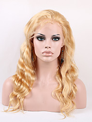 High Quality 613 Blonde Full Lace Wig Glueless Wig Natural Body Wave Human Hair Wigs With Free Parting 14-24 Inches