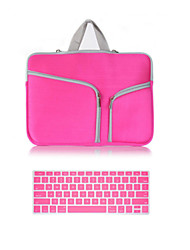 Top Selling Solid Color Canvas Zipper bag with Keyboard Cover for Macbook Retina 13.3