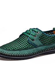 TBLS® Men's Suede Oxfords Green-6258