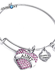 Heart Pendant with Crystal Bangle Bracelet