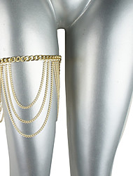 Body Jewelry/Leg Chain Body Chain Gold Plated Adjustable Gold 1pc