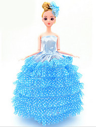 Universal (Excluding Baby) 10 Clothes Wedding Dress Full Bag Big Skirt Trailing Wedding Dress Design 30 Cm Doll Skirt
