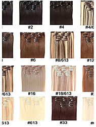 "Synthetic hair extensions Clip In Straight Synthetic Hair 22"" 7pcs/set 100g Full Head set Heat Resistance fiber Hair"