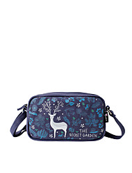 Flower Princess® Women Canvas Shoulder Bag Blue-1508X001