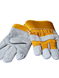 Labor Insurance Leather High Temperature Wear Protective Welding Gloves And Durable Anti-Slip Cutting