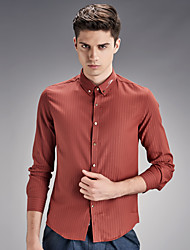 Men's pure color white long sleeve shirt business and leisure fashion new autumn and winter SY-1607