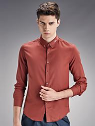 2016 new spring slim shirt shirt Korean fashion Cotton Mens Long sleeve lining metrosexual man