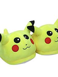 Kigurumi Pajamas Anime / Cartoon Shoes / Slippers Halloween Animal Sleepwear Yellow Solid Coral fleece Slippers UnisexHalloween /
