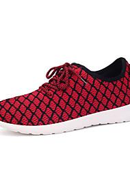 scarpe da uomo tulle scarpe da ginnastica di moda atletico scarpa da tennis atletica tallone piano altri blu / rosso / grigio