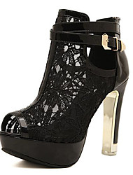 Women's Heels Summer Heels Lace Casual Stiletto Heel Others Black / White