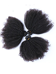 6A Peruvian Kinky Curly Virgin Hair 3Pieces/lot Afro Kinky Curly Virgin Hair Can Be Dyed Human Hair Weaves Natural Black