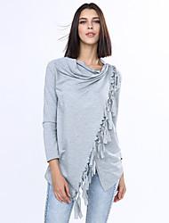 Women's Tassel Causal Cowl Tassels Long Sleeve Blouses