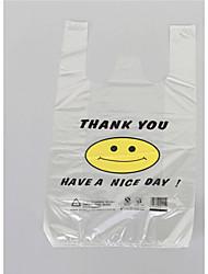 32x50cm прозрачный улыбающееся лицо жилет супермаркет торговой полиэтиленовый пакет