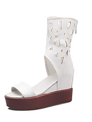 Women's Shoes Leatherette Spring / Summer Peep Toe / Gladiator / Creepers / Comfort / Novelty / Styles  / Office
