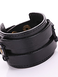 Retro Punk Double-Layer Super Wide Leather Belt Bracelets 1pc
