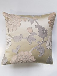 Satin Chenille three-Dimensional Jacquard Cushion Cover-Beige