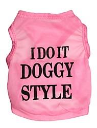 Коты / Собаки Футболка Синий / Черный / Розовый Одежда для собак Лето Цветочные / ботанический Мода
