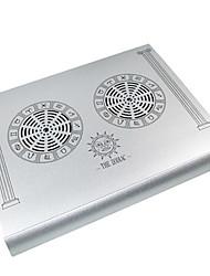 ventiladores de refrigeración USB mudos protable con doble ventilador