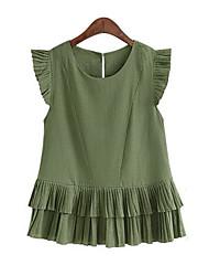 Women's New Style Fashion Temperament Plus Size Dresseswm Women's Blouses Plus Size Top