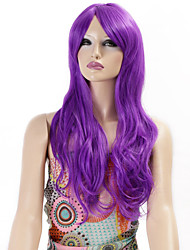 Synthetic Wigs Long Curly Wave Synthetic Hair Purple Color Wigs For Women Cosplay Christmas Wig