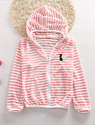 Girl's Casual/Daily Patchwork Suit & Blazer,Cotton Summer Green / Pink / White / Gray