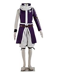 Inspiriert von Fairy Tail Natsu Dragneel Anime Cosplay Kostüme Cosplay Kostüme Einfarbig Lila Top / Rock / Kurze Hosen