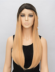 1B/Blonde 65cm Long Straight Synthetic Wigs for Women European and American Fashion Heat Resistant Cosplay Wigs