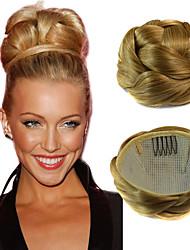 свадебные клипы булочка свадебные прически шиньон синтетические прямые выдвижения волосы светлые
