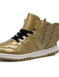 Da donna-Sneakers-Casual / Sportivo-Comoda-Piatto-Vernice-Rosa / Dorato