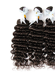 "3 Pcs Lot 12""-30"" Indian Deep Wave Curly Virgin Hair With Closure 3Bundles Unprocessed Remy Human Hair"