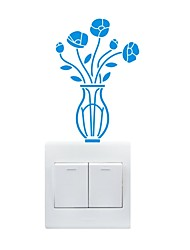 AYA™ DIY Wall Stickers Wall Decals, Vase Type PVC Switch Panel Stickers 10*14cm