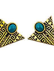 Earring Geometric Jewelry Women Fashion Wedding / Party / Daily / Casual / Sports Alloy / Resin 1 pair Gold / Silver