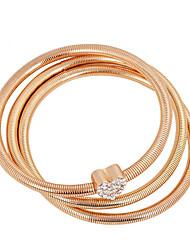 Charm Bracelets / Bangles 3pcs,Golden Bracelet Fashionable Love Bracelet Rhinestone Jewellery Friendship Bracelet Gift