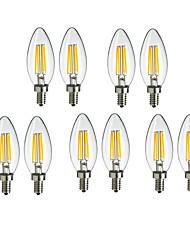 10pcs c35 3.5w e14 360lm Lumière de filament LED couleur chaude froide à 360 degrés (220-240)