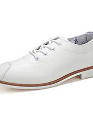 Men's Shoes PU Work & Duty / Casual Oxfords Work & Duty / Casual Walking Low Heel Lace-up Black / White