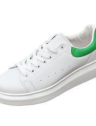 Da uomo Comoda PU (Poliuretano) Primavera Autunno Casual Comoda Piatto Bianco Nero Verde