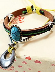 Women Bohemian Style Leather Bracelet