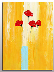 Hand Painted Canvas Oil Painting Modern Abstract Flower Picture Wall Art With Stretched Frame Ready To Hang