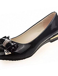 Women's Heels Summer Heels PU Casual Low Heel Bowknot Black / Pink / White / Beige Others