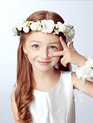 Kid's Full Floral Headband and Bracelet Set