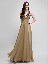 TS Couture® Formal Evening Dress A-line Jewel Floor-length Chiffon / Satin with