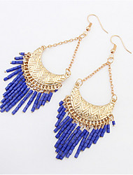 Stylish Atmosphere Crescent Beaded Earrings