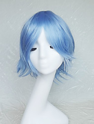 Cosplay Wig Colour Double  Light Blue Cartoon Characters Become Warped Wig 10 Inch