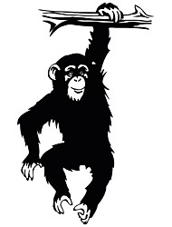 Fashion The A Leisurely Little Gorilla Pattern PVC Bathroom or Bedroom or Glass Wall Sticker Home Decor