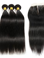 Trame cheveux avec fermeture Cheveux Brésiliens Très Frisé 4 Pièces tissages de cheveux