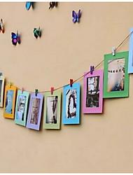 "6""colorful Picture Frames Modern/Contemporary Rectangular,Paper 1set Medium"