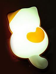 criativa noturna levou lâmpada de parede de controle de luz gato branco pequeno
