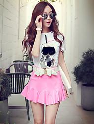 Розовый Doll® Женский Выше колена Юбки-X15BQK001